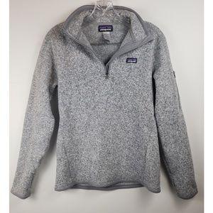 Patagonia light grey half zip better sweater